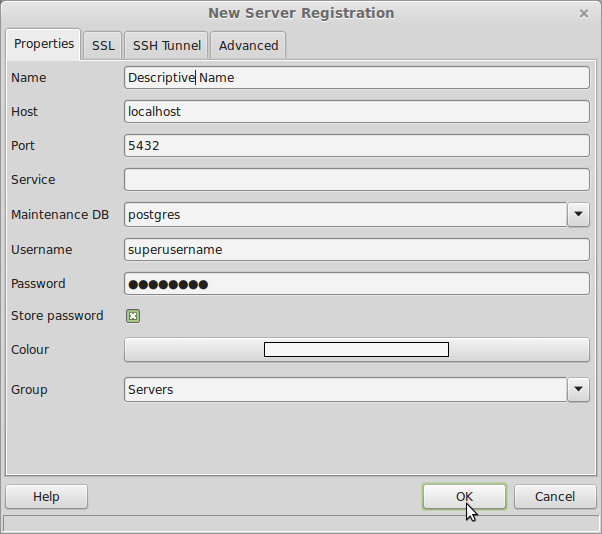 pgAdminNewServerRegistration